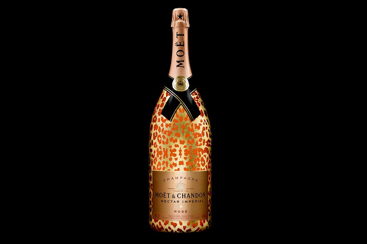 moet chandon moet nectar imperial rose leopard luxury edition methuselah bottle