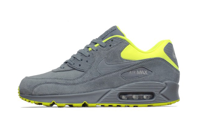 Nike Air Max 90 Premium Dark Grey/Volt-Medium Grey