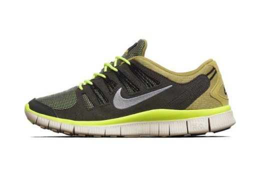 Nike Free 5.0 EXT Newsprint/Dusty Grey-Parachute Gold-Beach