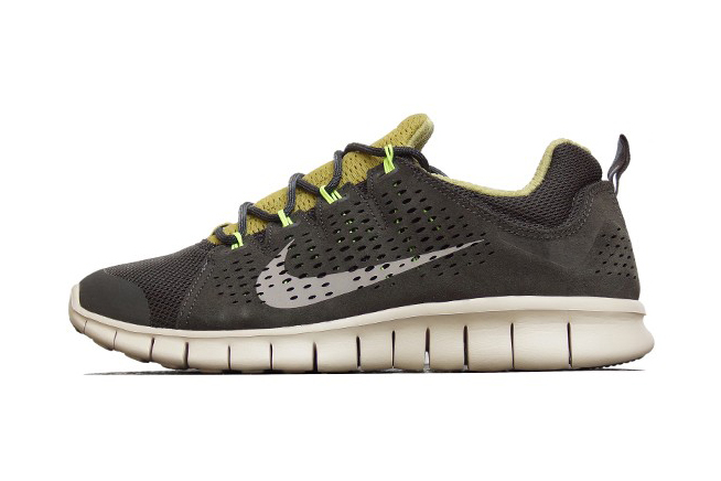 Nike Free Powerlines+ II LTR Newsprint/Dusty Grey-Parachute Gold-Volt