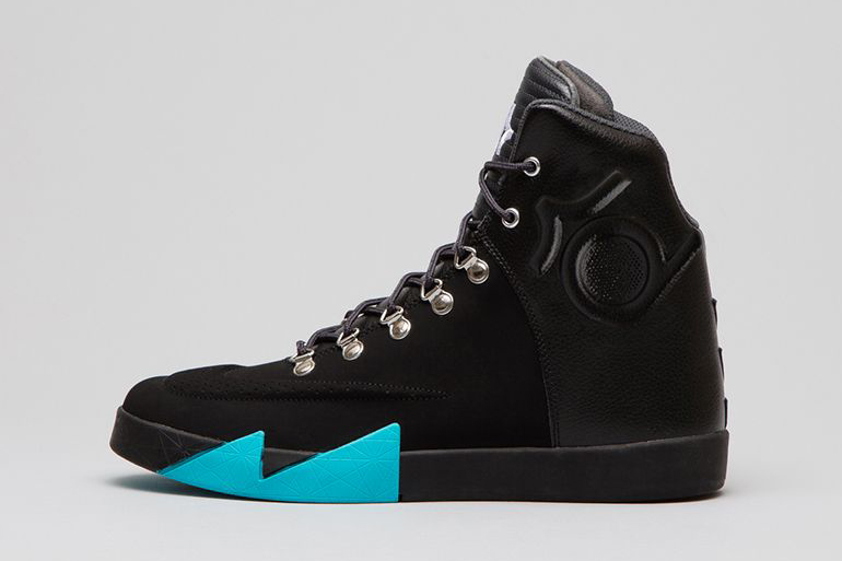 nike kd vi nsw lifestyle leather qs blackblack anthracite gamma blue