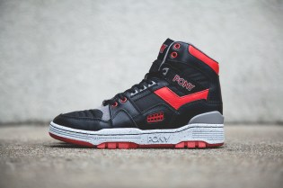 PONY M-100 Hi Black/Red