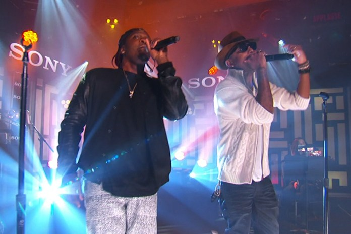"Pusha T and Pharrell Williams Perform ""S.N.I.T.C.H."" on Jimmy Kimmel Live"