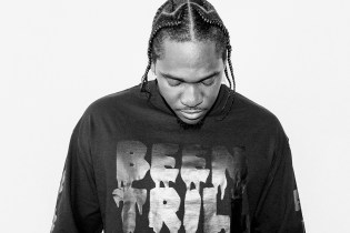 "Pusha T Shot by Van Styles for PacSun's ""Black Out Pack"" Collection"