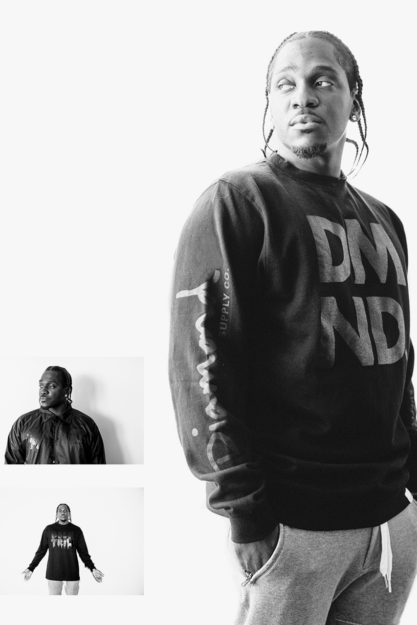 pusha t shot by van styles for pacsuns black out pack collection
