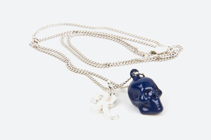Raf Simons x Atelier 11 Skull and R Silver Necklace