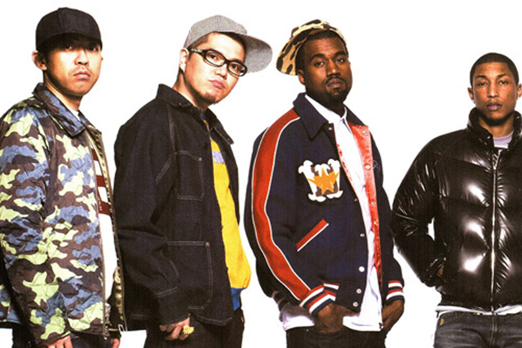 A Look Back at Pharrell, Kanye West and Big Sean Alongside NIGO in A Bathing Ape's Fall/Winter 2008 MOOK