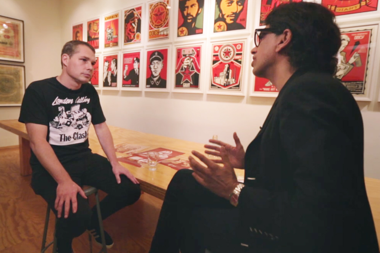Shepard Fairey Talks About Rebel Music Series with MTV