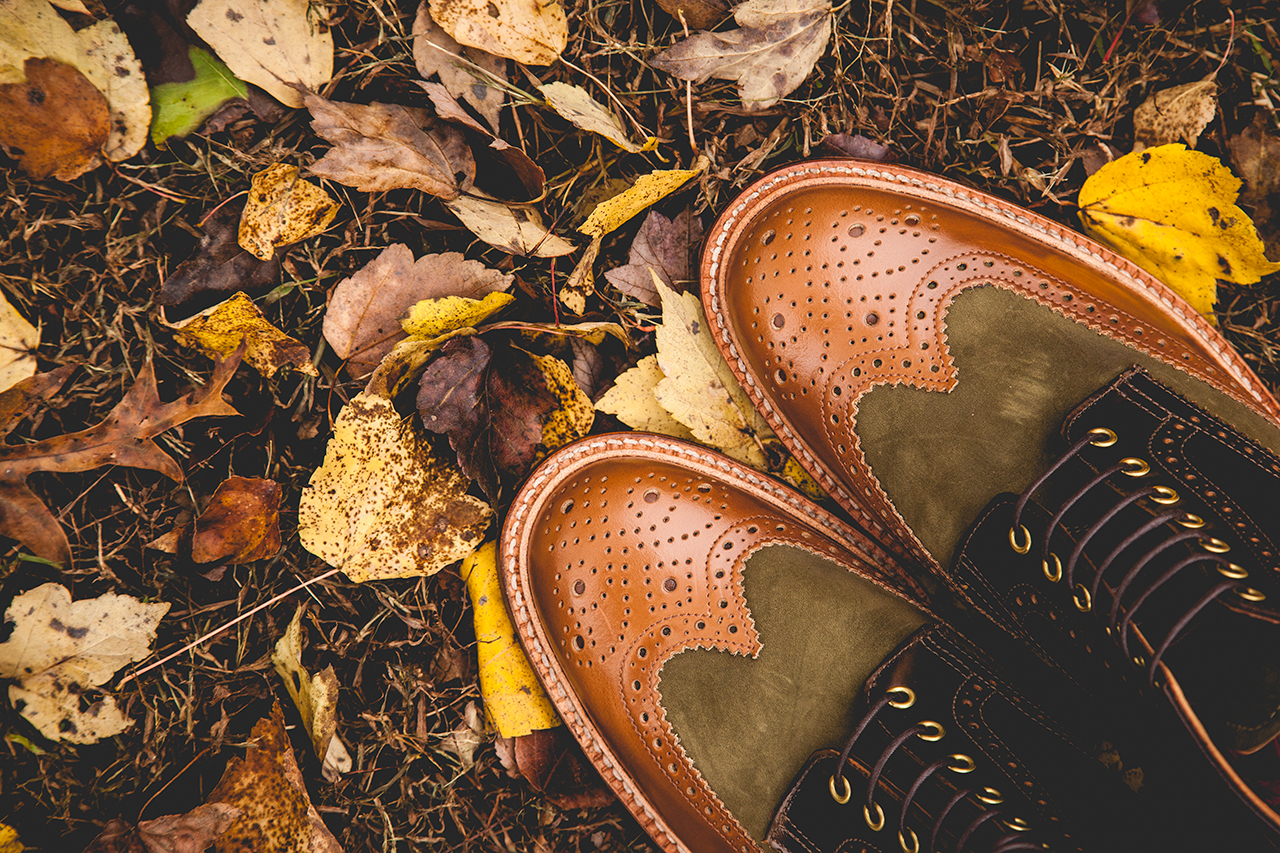 "Social Status x Grenson 2013 Holiday ""Beef & Broccoli"" Wingtip Brogue Boot"