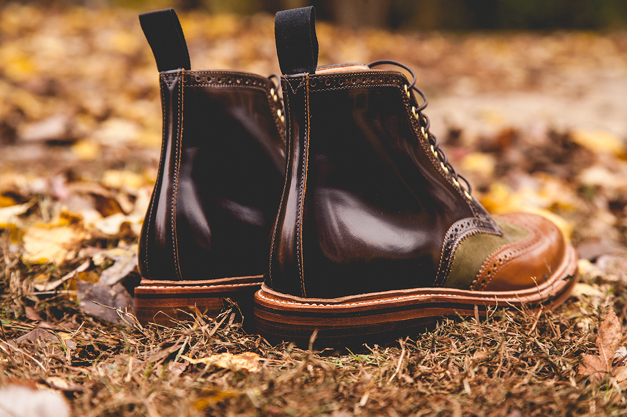 social status x grenson 2013 holiday beef broccoli wingtip brogue boot