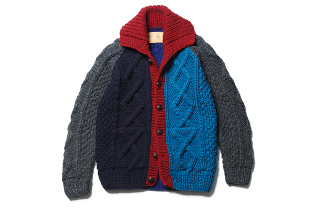 sophnet canadian sweater cardigan