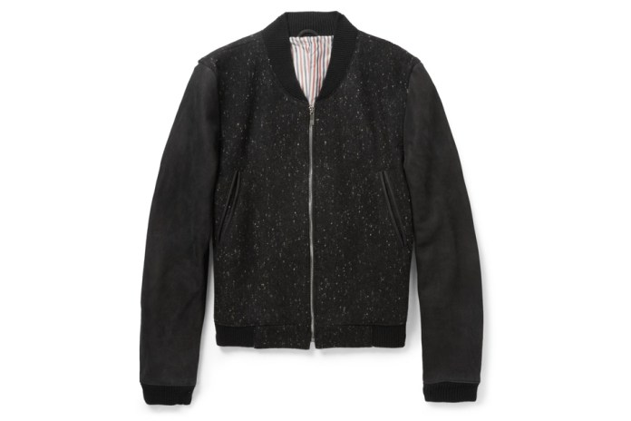 Thom Browne Wool Varsity Bomber Jacket