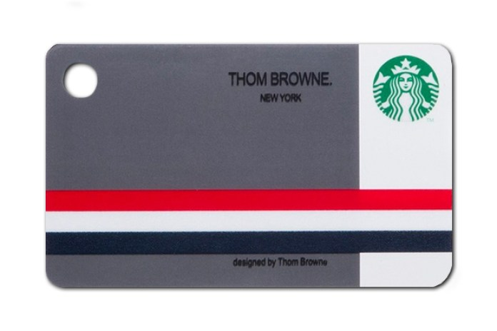 Thom Browne's Gift Card for Starbucks Japan