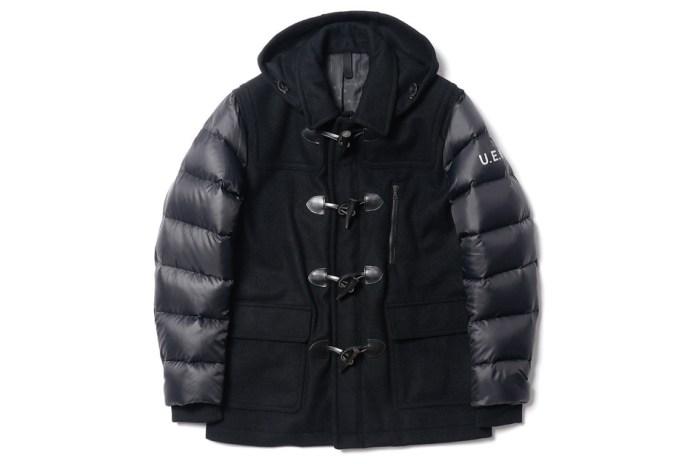 uniform experiment Down Sleeve Short Duffle Coat