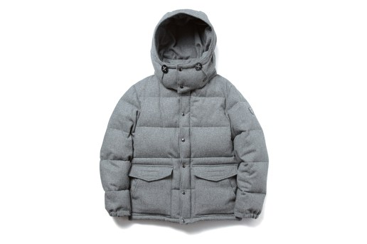 uniform experiment WOOL MELANGE CLASSIC HOOD DOWN JACKET