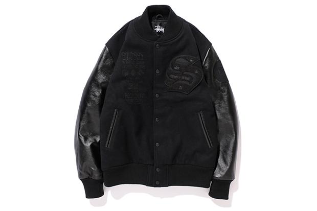 45 king x kodp x bbp x stussy crate digger varsity jacket