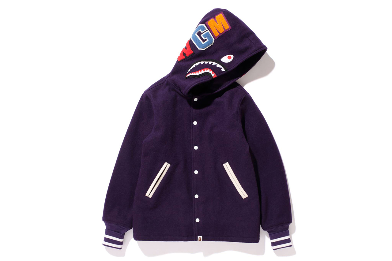 A Bathing Ape 2013 Winter SHARK VARSITY JACKET