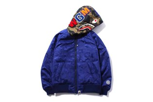 A Bathing Ape SHARK HOODIE PADDED JACKET