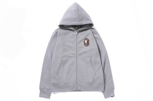 A Bathing Ape Swarovski LARGE HEAD FULL ZIP HOODIE