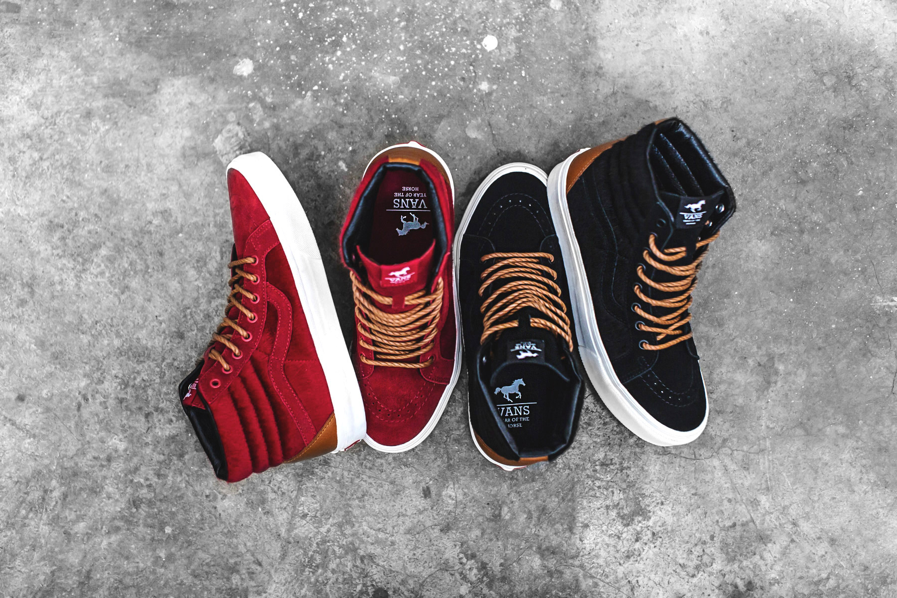 a closer look at the vans sk8 hi year of the horse pack