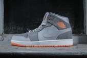 Air Jordan 1 Mid Wolf Grey/Atomic Orange