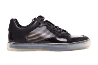 Balenciaga Contrasting Leather and Transparent Trainers