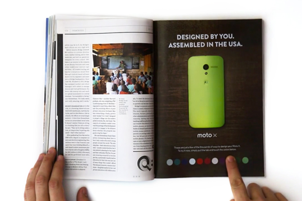 Check Out Motorola's Interactive Print Ad in WIRED Magazine