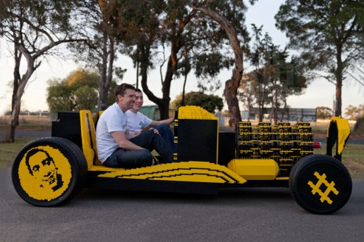 Check Out This Full-Scale, Air-Powered LEGO Hot Rod