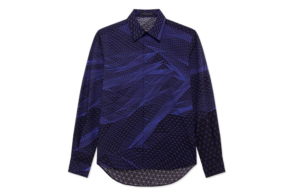 christopher kane landscape digital shirt