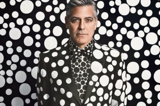 George Clooney by Yayoi Kusama for W Magazine