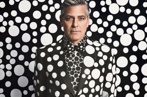 George Clooney by Yayoi Kusama for W Magazine