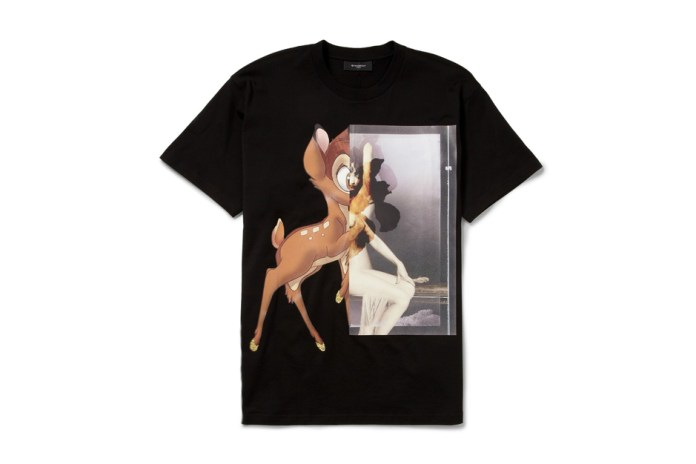 Givenchy Black Bambi Print Cotton-Jersey T-Shirt