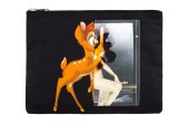 Givenchy Black Nylon Baby Deer Print Pouch