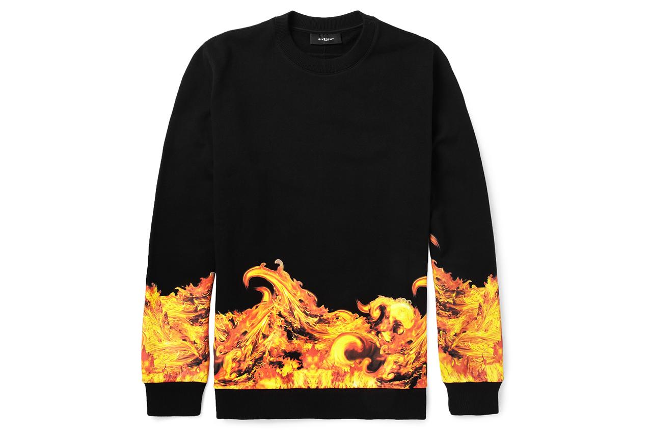Givenchy Flame-Print Sweatshirt