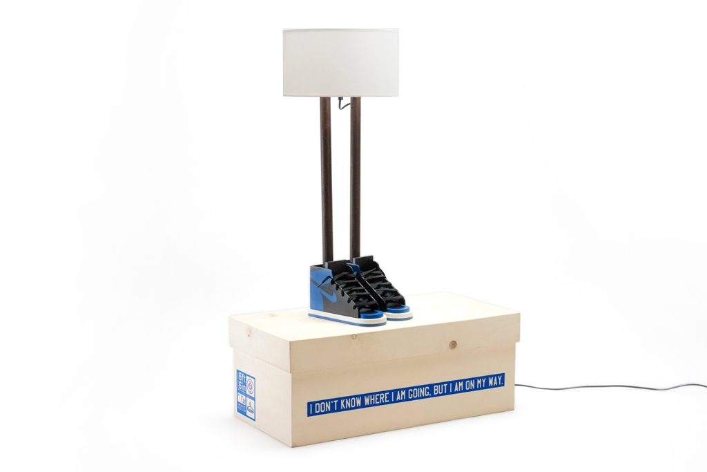"Grotesk x Case Studyo ""6ft 6in"" Lamp Black/Royal Blue"
