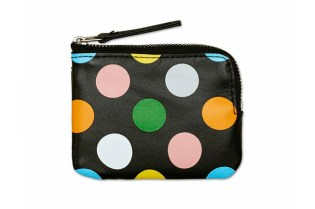 Happy Socks Black Dot Leather Wallet