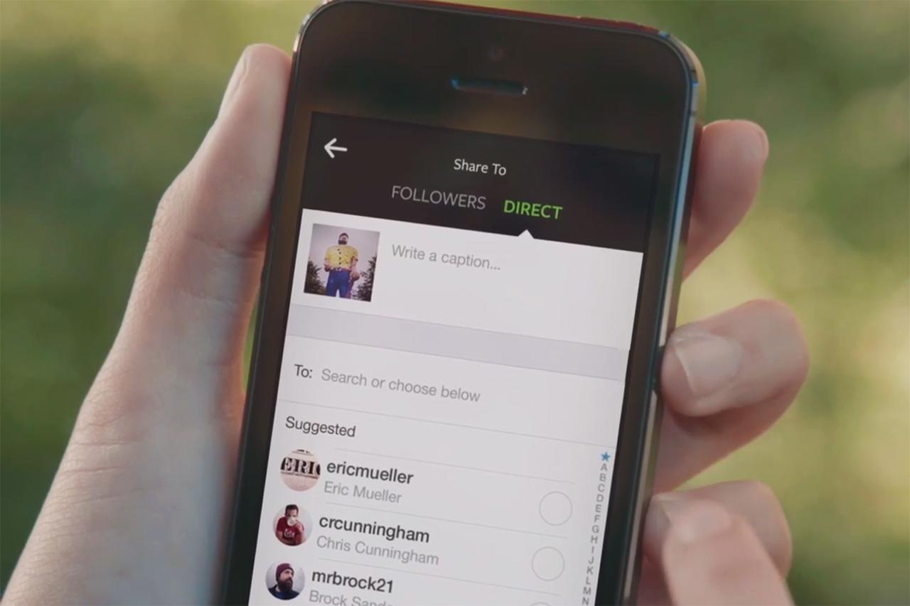 Instagram Launches Instagram Direct
