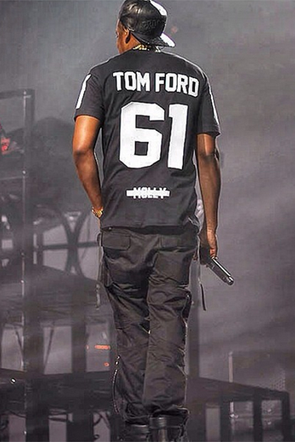 Jay Z Sports Tom Ford on Magna Carter World Tour
