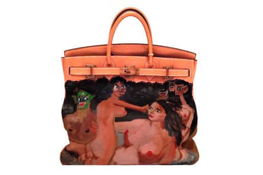 Kanye West Gifts Hand-Painted George Condo Hermès Birkin to Kim Kardashian