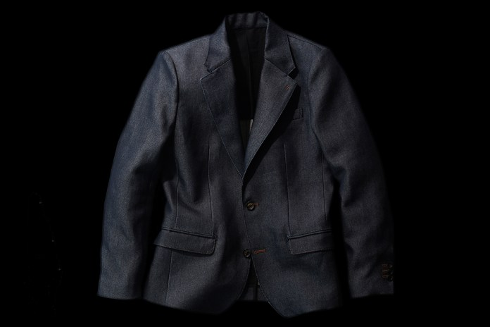 KYUTEN Washi Denim Tailored Collar Jacket