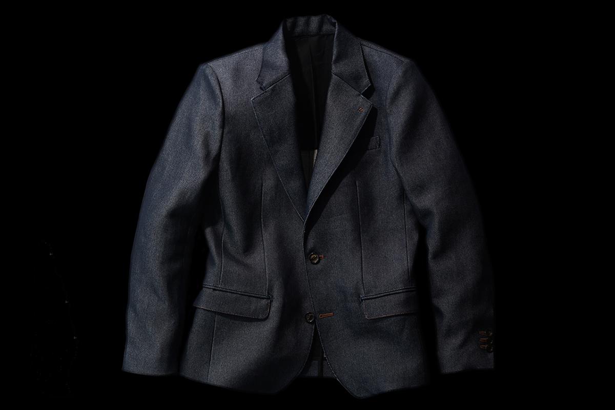 KYUTEN Washi Denim Tailored Collar Jacket