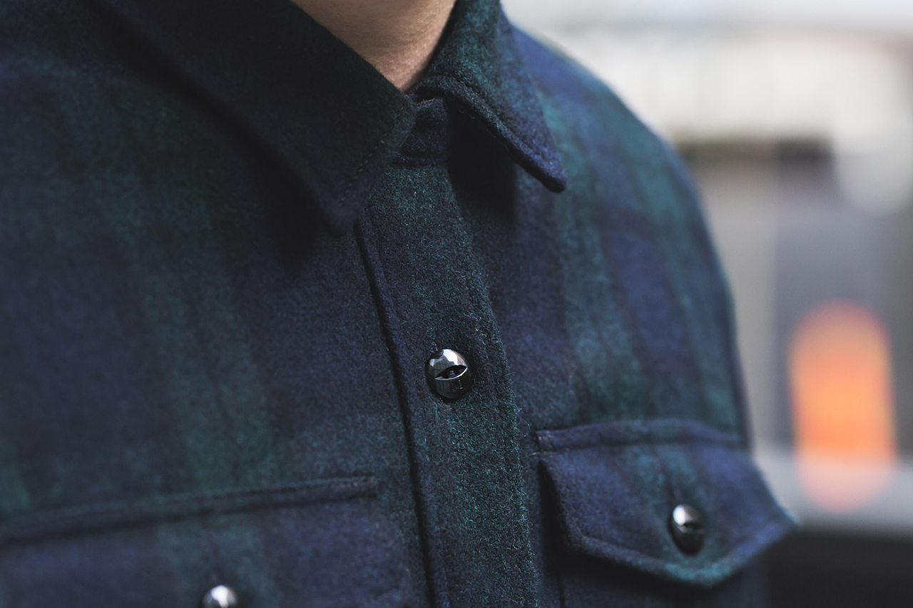 m v p x neighborhood 2013 fallwinter navy nhmv wool shirt