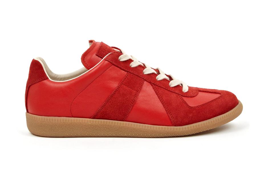 maison martin margiela 22 red replica sneakers