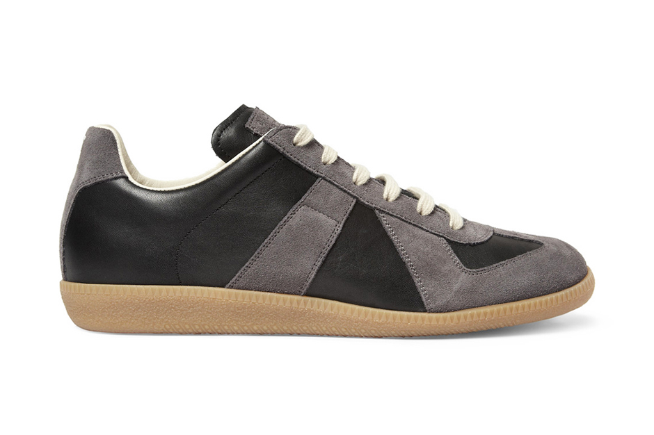 maison martin margiela leather and suede replica sneaker