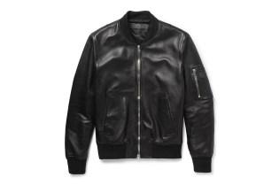 Neil Barrett Leather Bomber Jacket