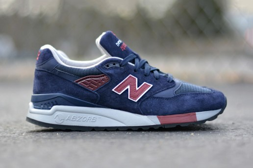 New Balance M998MB Navy/Burgundy