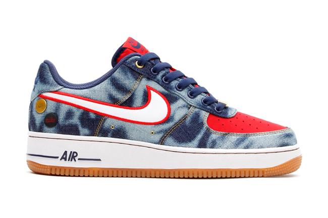 Nike Air Force 1 '07 Denim Midnight Navy/White-University Red