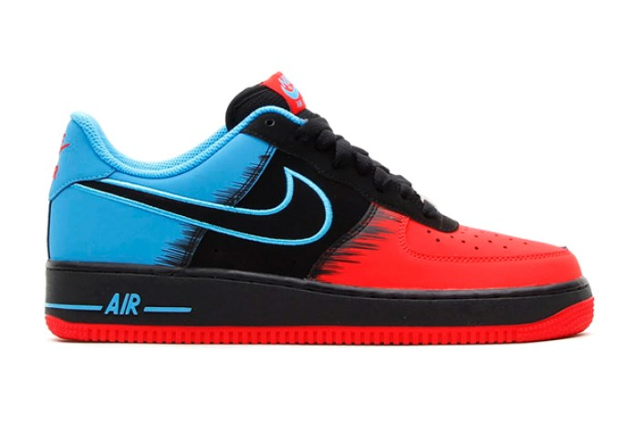 Nike Air Force 1 Light Crimzon/Black/Vivid Blue