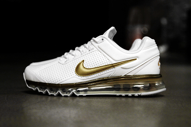 nike air max 2013 leather qs whitemetallic gold