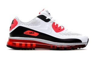 Nike Air Max 90 2014 Leather QS White/Infrared/Black